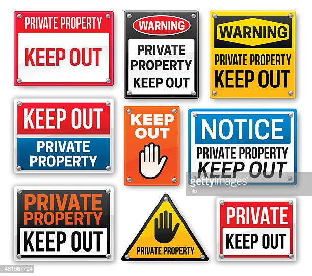 Private Property Keep Out Signs
