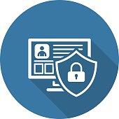 Private Security Icon. Flat Design.