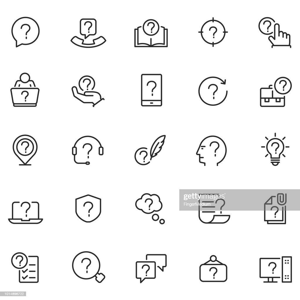 Problem vector icon set