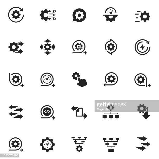 process icon - merging stock illustrations