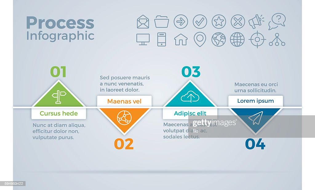 process timeline steps infographic vector art getty images