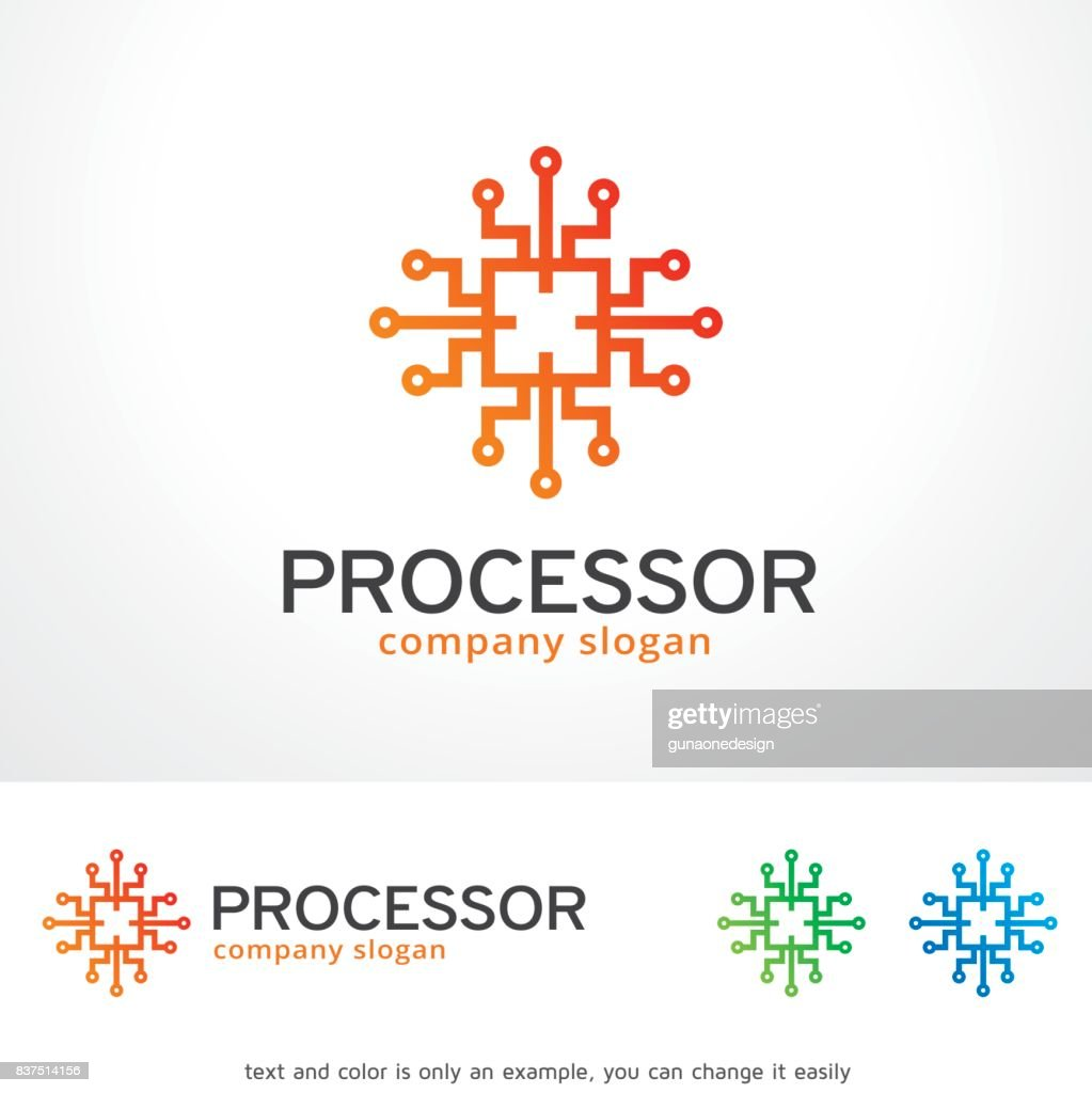 Processor Symbol Template Design Vector, Emblem, Design Concept, Creative Symbol, Icon