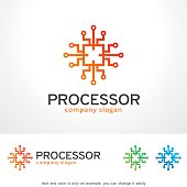 Processor Symbol Template Design Vector, Emblem, Design Concept, Creative Symbol, Icon