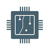 Processors flat Icon Isolated on White Background.vector illustration icon