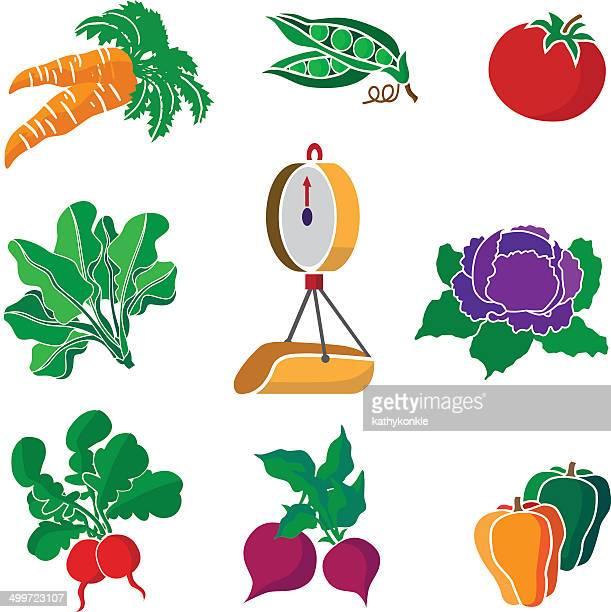 Escala de producción y de las verduras