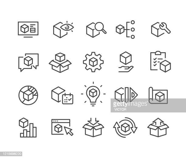 product icons - classic line series - arranging stock illustrations