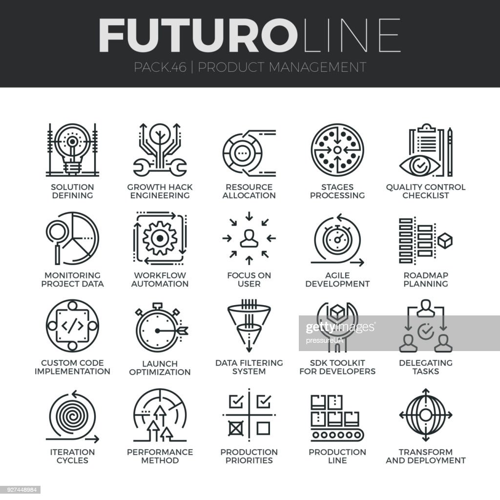 Product Management Futuro Line Icons Set