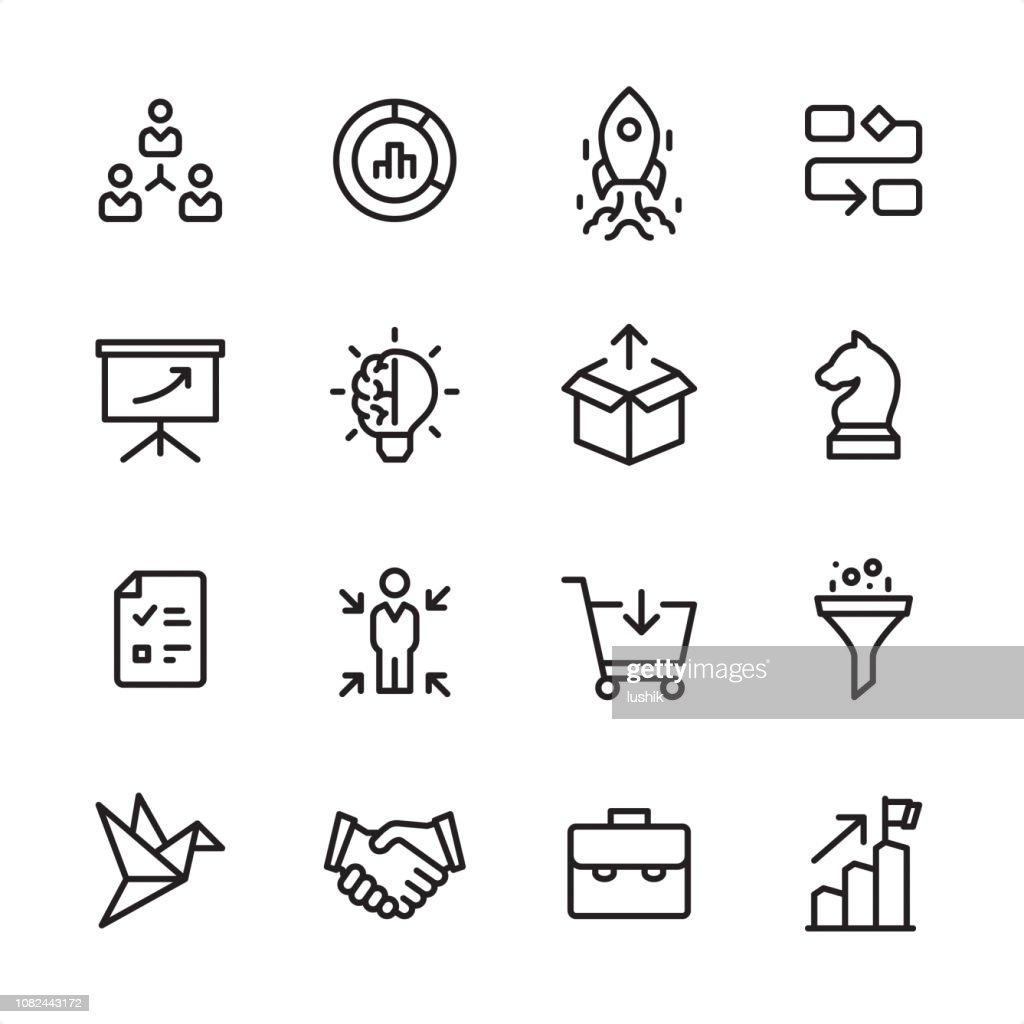 Product Management - outline icon set : stock illustration