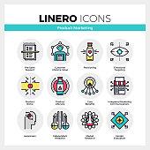 Product Marketing Linero Icons Set