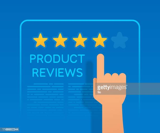 product reviews star rating buying information - rating stock illustrations