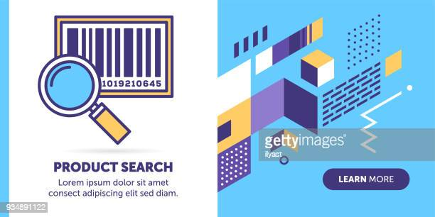 product search banner - bar code reader stock illustrations, clip art, cartoons, & icons