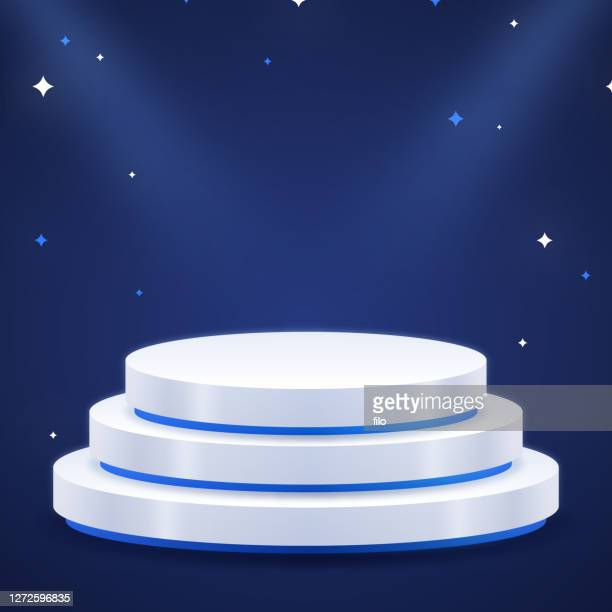 product showcase display podium stand - sports round stock illustrations