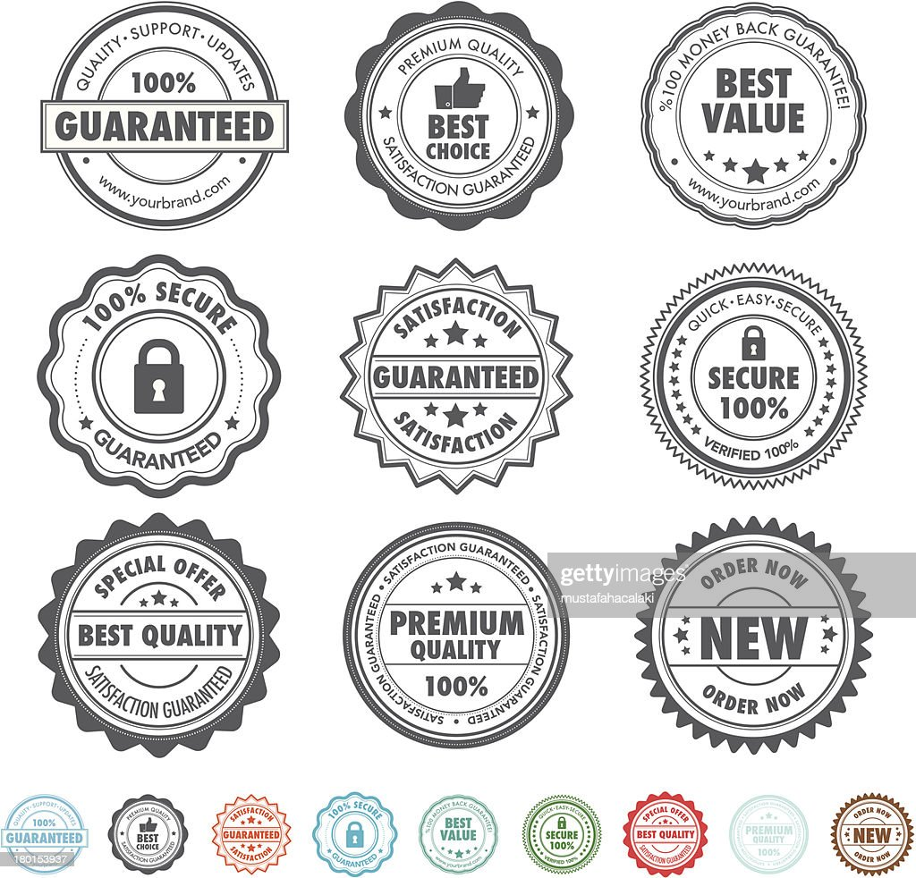 Product stamps : stock illustration