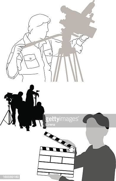 production crew - producer stock illustrations, clip art, cartoons, & icons