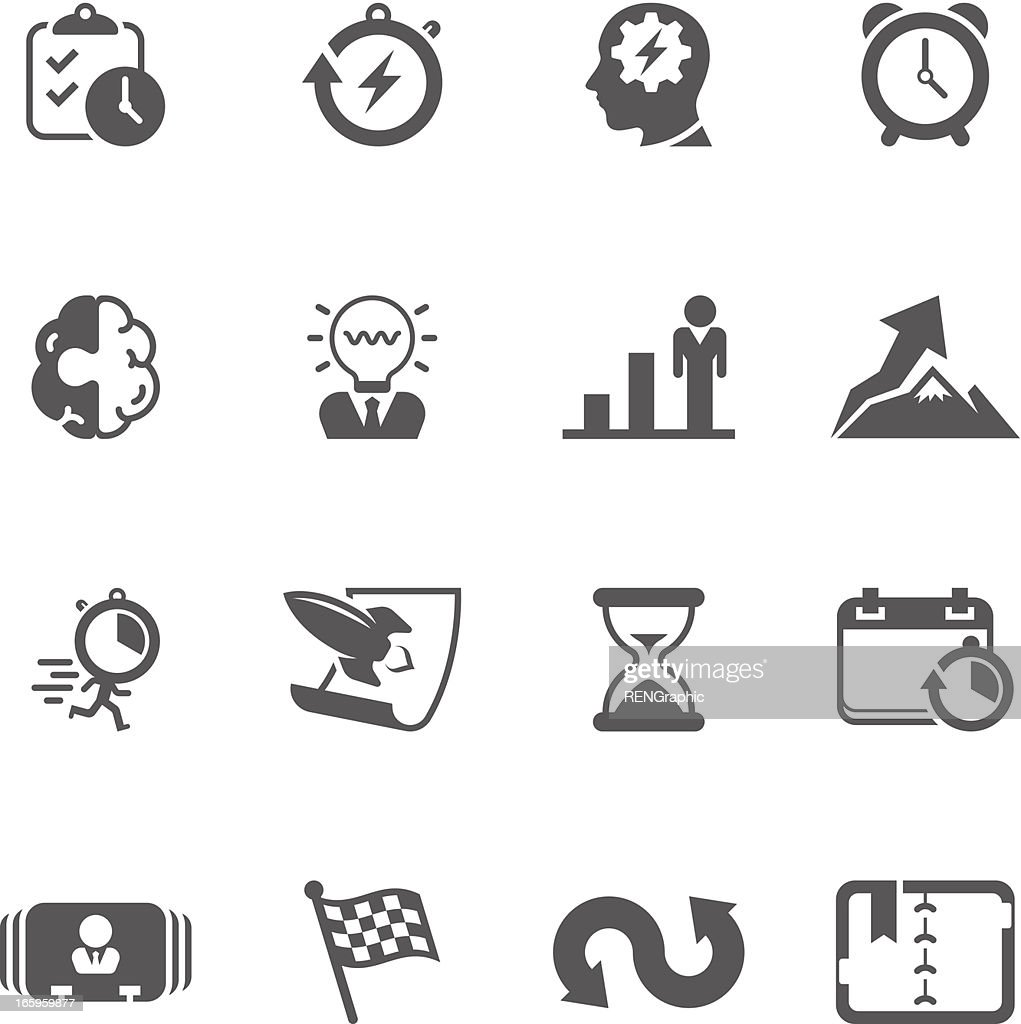 Productive & Efficiency Icon Set | Unique Series