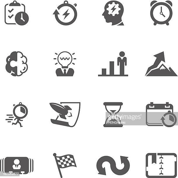 productive & efficiency icon set | unique series - rolodex stock illustrations, clip art, cartoons, & icons
