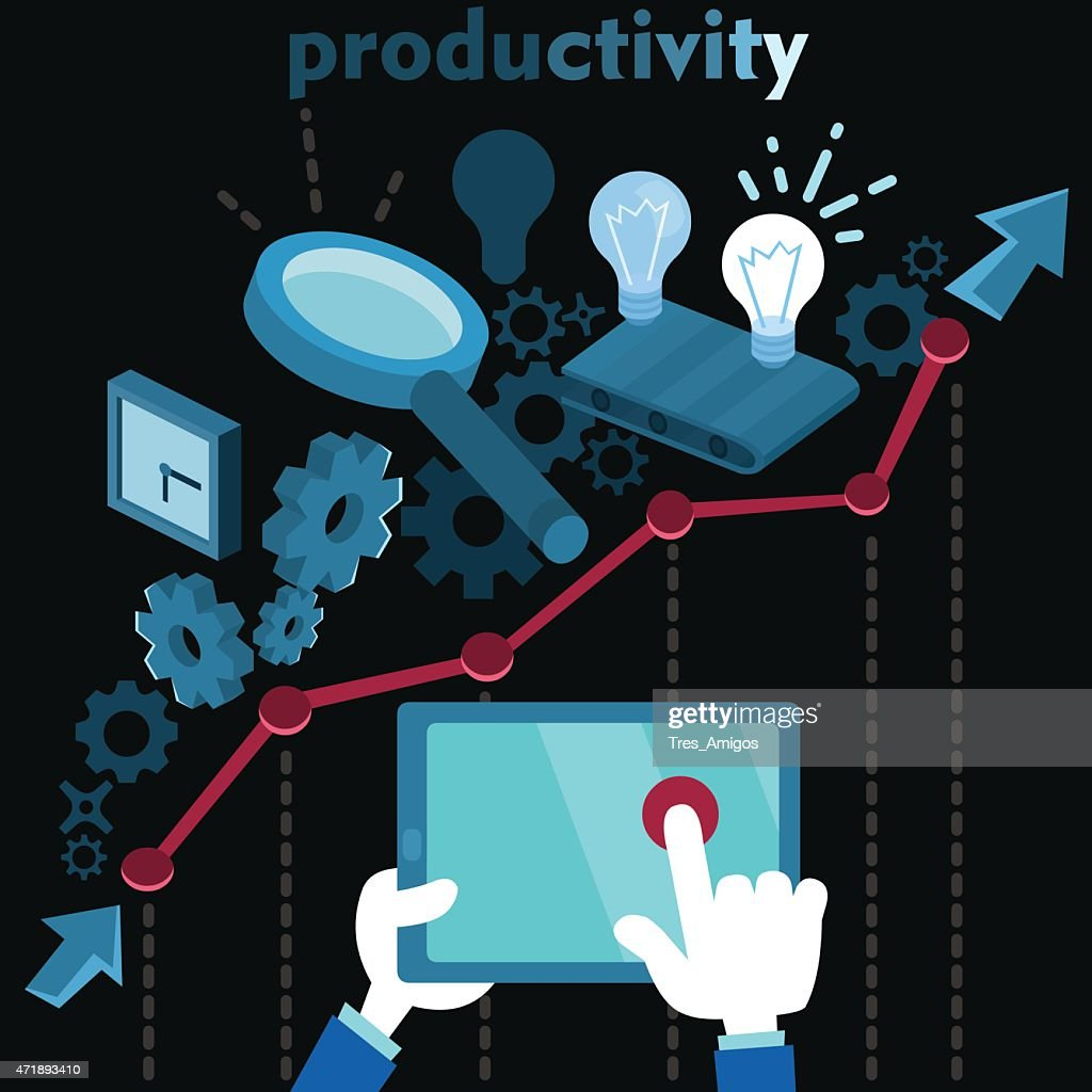 Productivity and workflow vector illustration