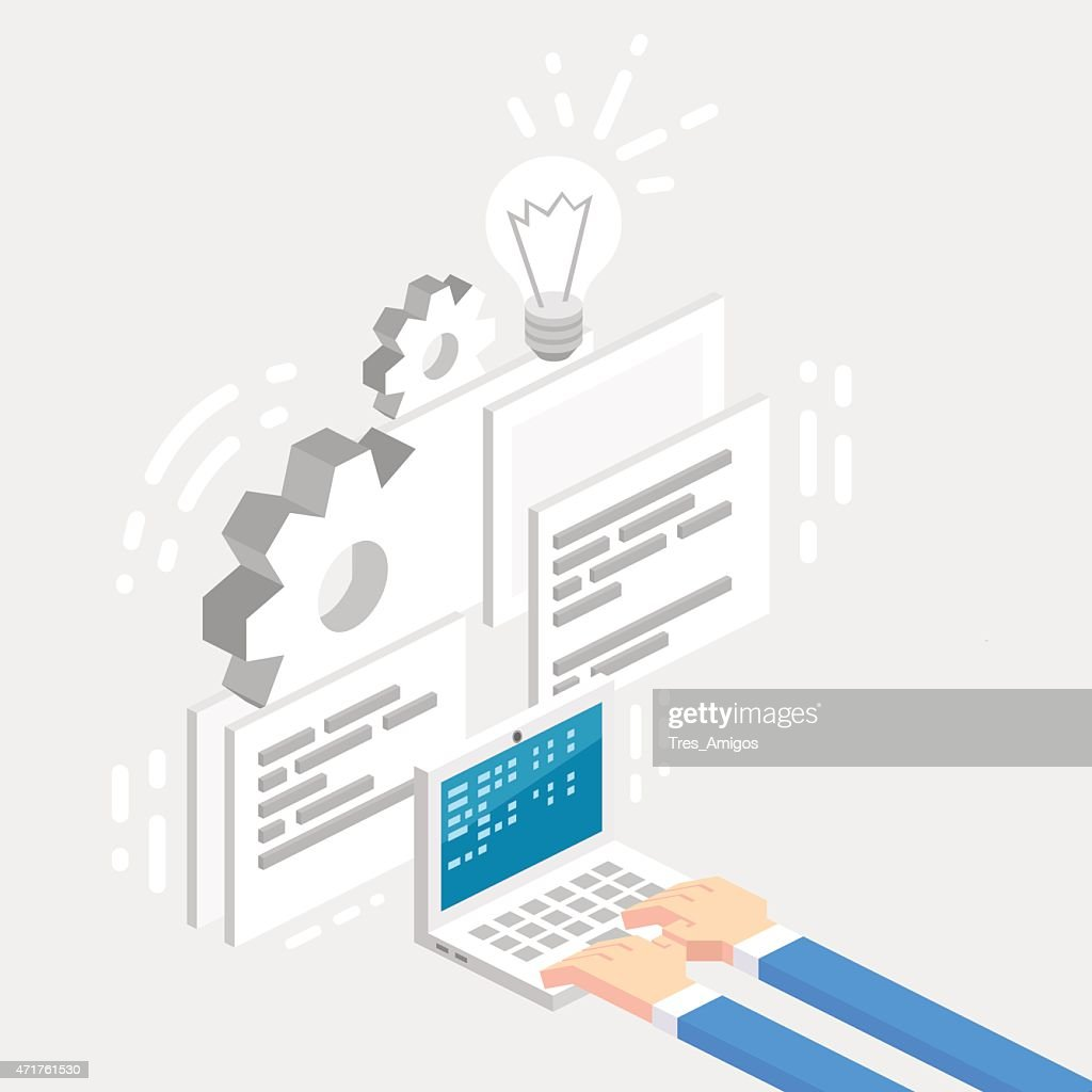 Productivity and workflow vector isometric illustration