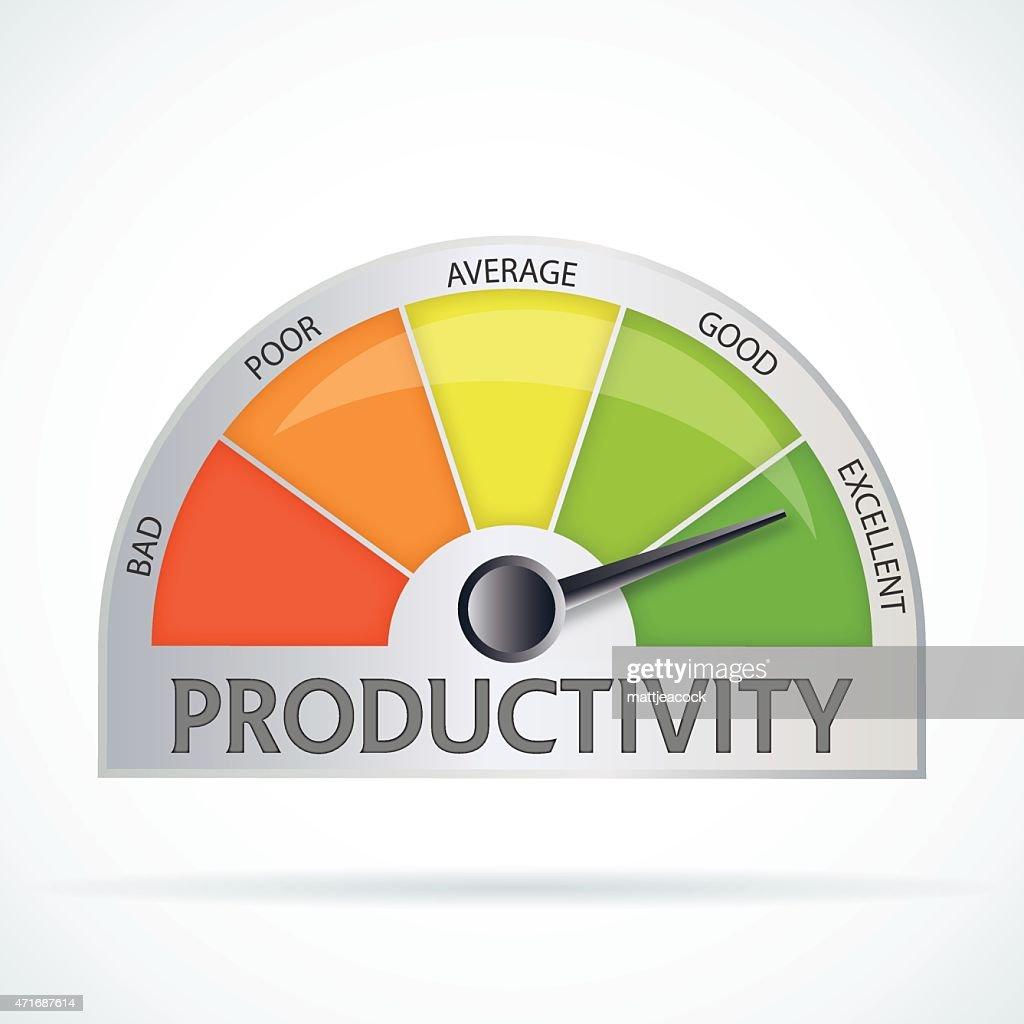 Productivity chart : stock illustration