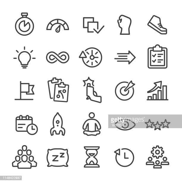 productivity icon - smart line series - beginnings stock illustrations