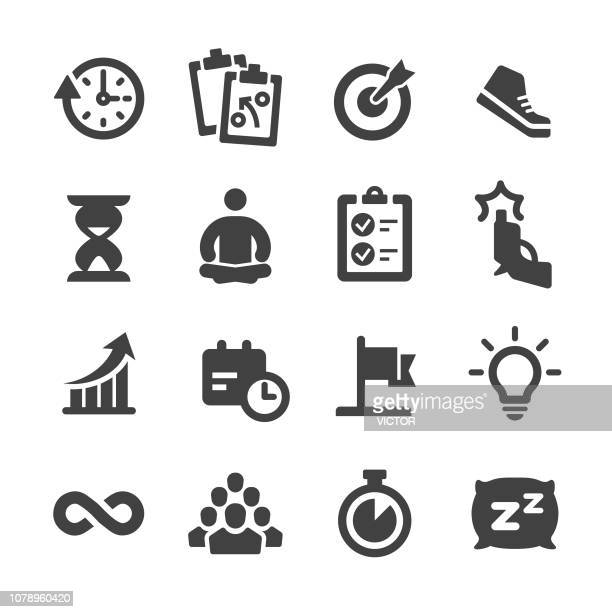 productivity icons - acme series - rolodex stock illustrations, clip art, cartoons, & icons