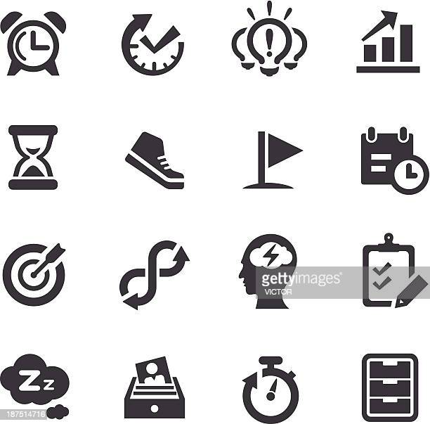 stockillustraties, clipart, cartoons en iconen met productivity icons - acme series - concentratie