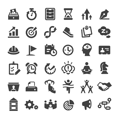 Productivity Icons - Big Series - gettyimageskorea