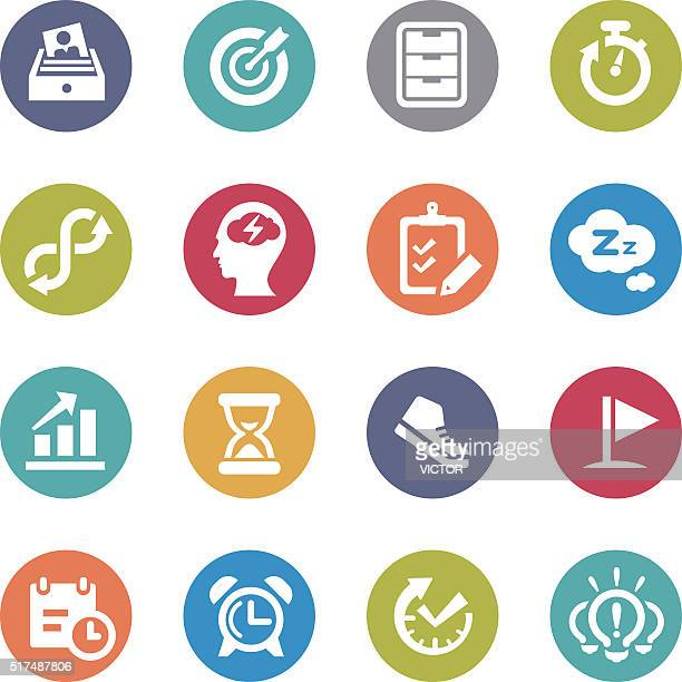 productivity icons - circle series - to do list stock illustrations, clip art, cartoons, & icons