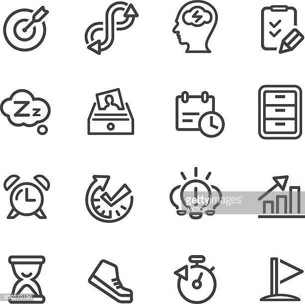 productivity icons - line series - to do list stock illustrations, clip art, cartoons, & icons