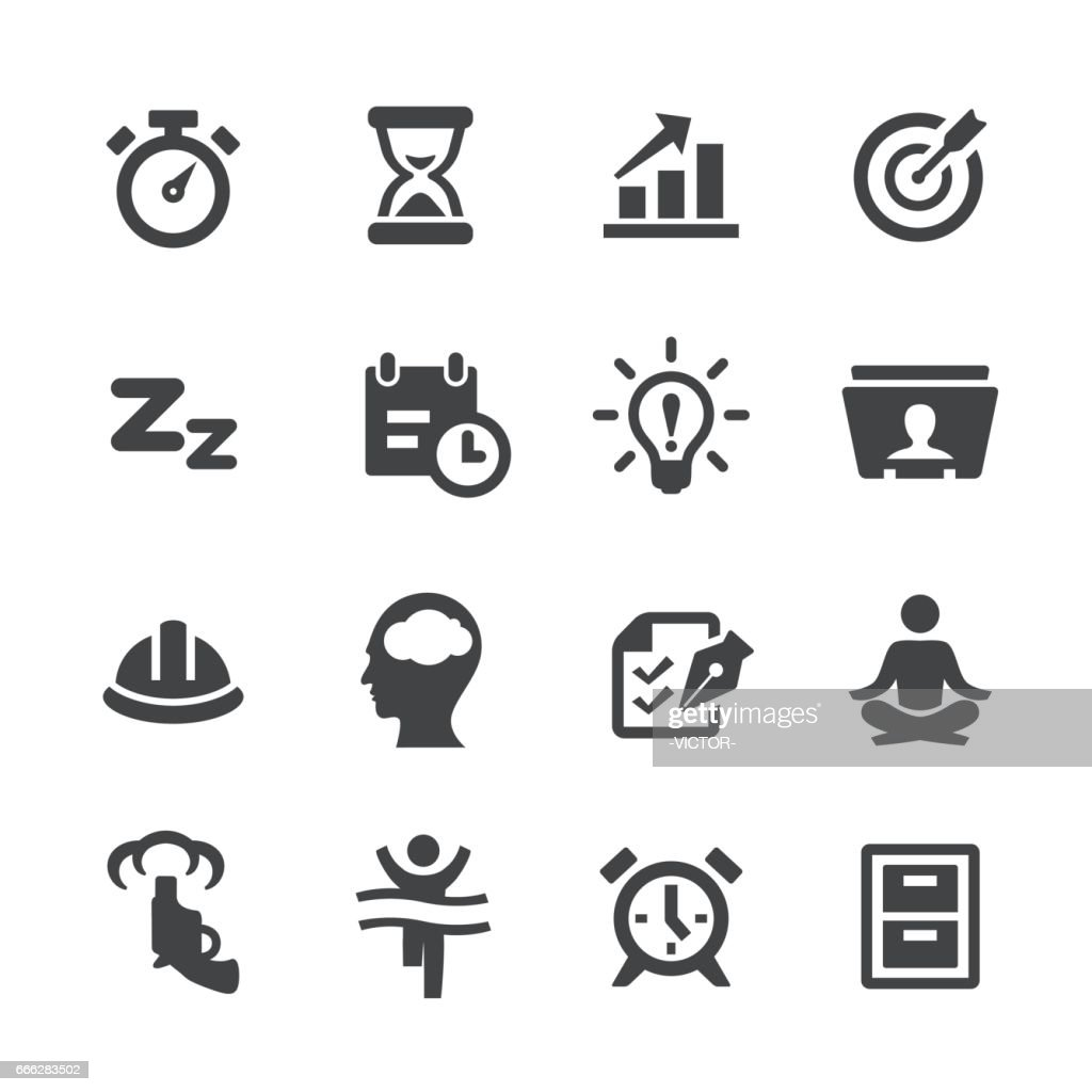 Productivity Icons Set - Acme Series : stock illustration