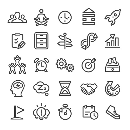 Productivity Icons - Smart Line Series - gettyimageskorea