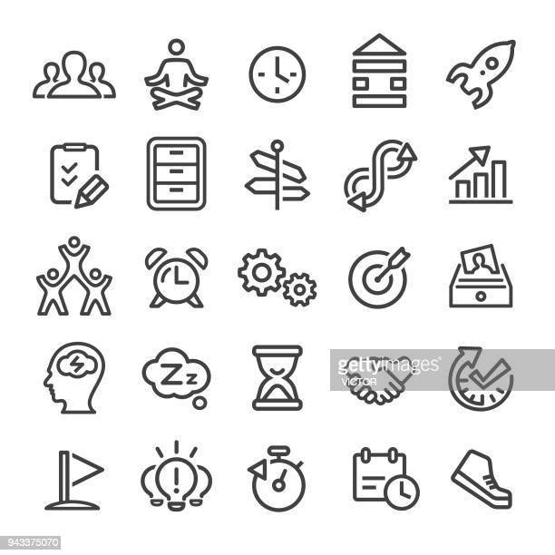 productivity icons - smart line series - to do list stock illustrations, clip art, cartoons, & icons
