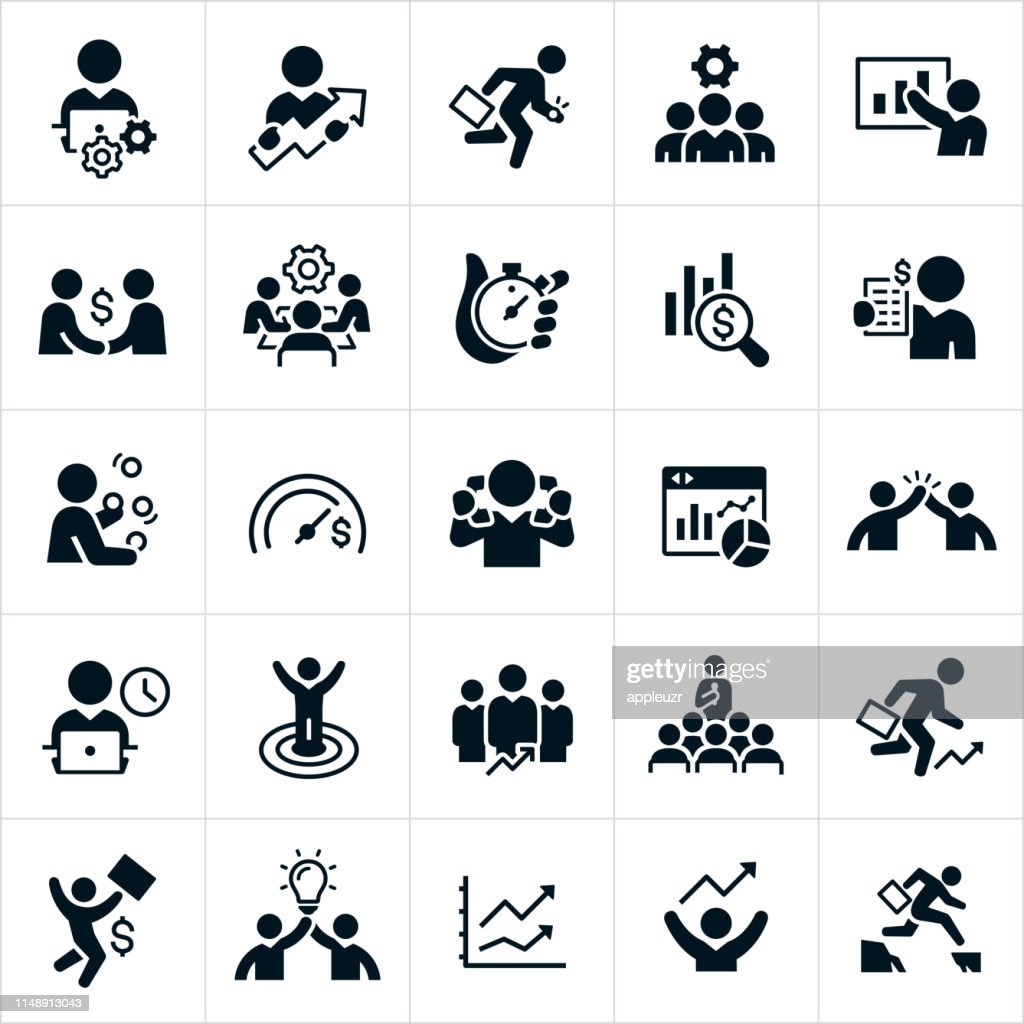 Productivity Icons : Stock Illustration