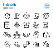 Productivity Icons - Vector Line Series