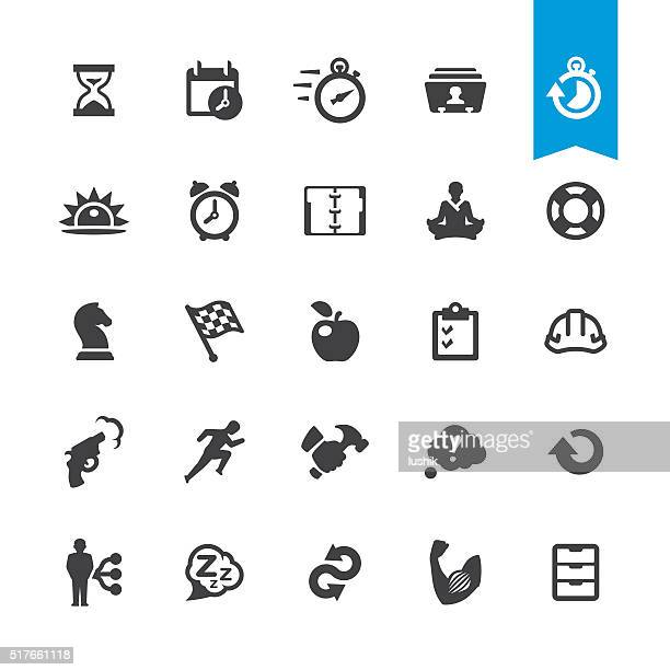 Productivity & Time management vector sign and icon