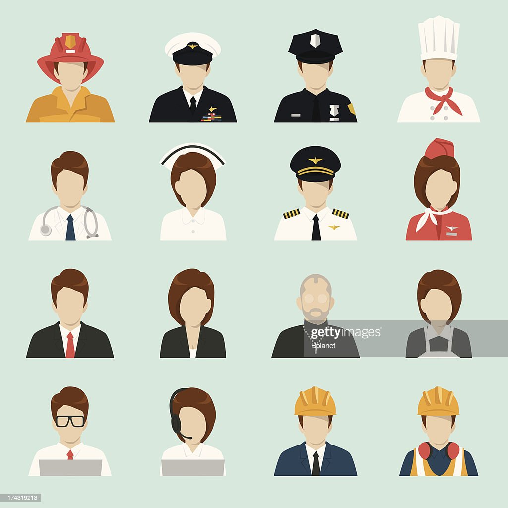 profession people icons