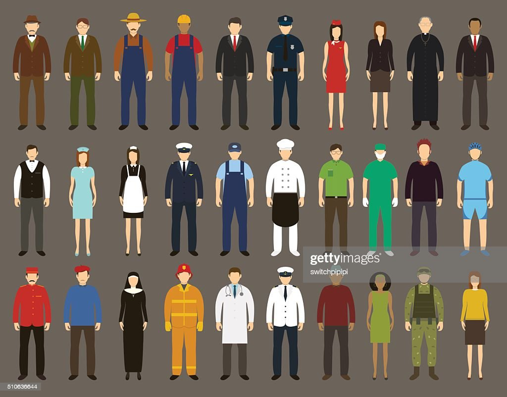 Profession People set. Vector