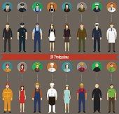 Profession People set. Vector