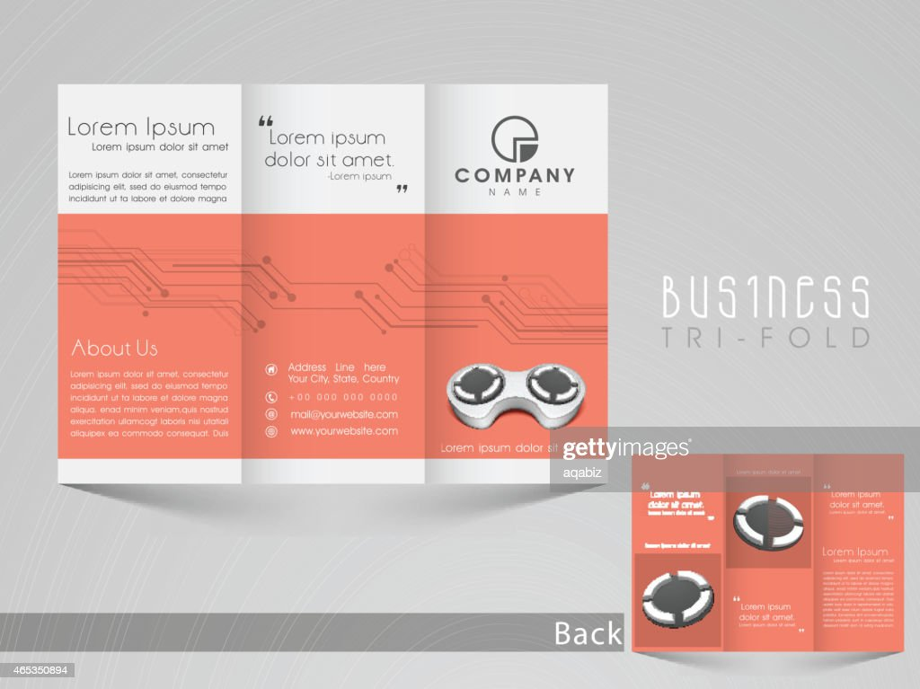 Professiona trifold brochure, catelog and flyer template for business purpose.