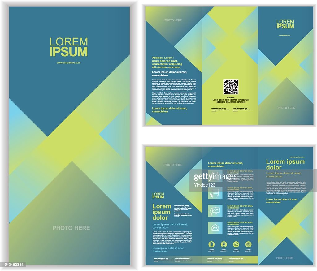 Professional business three fold brochure template C