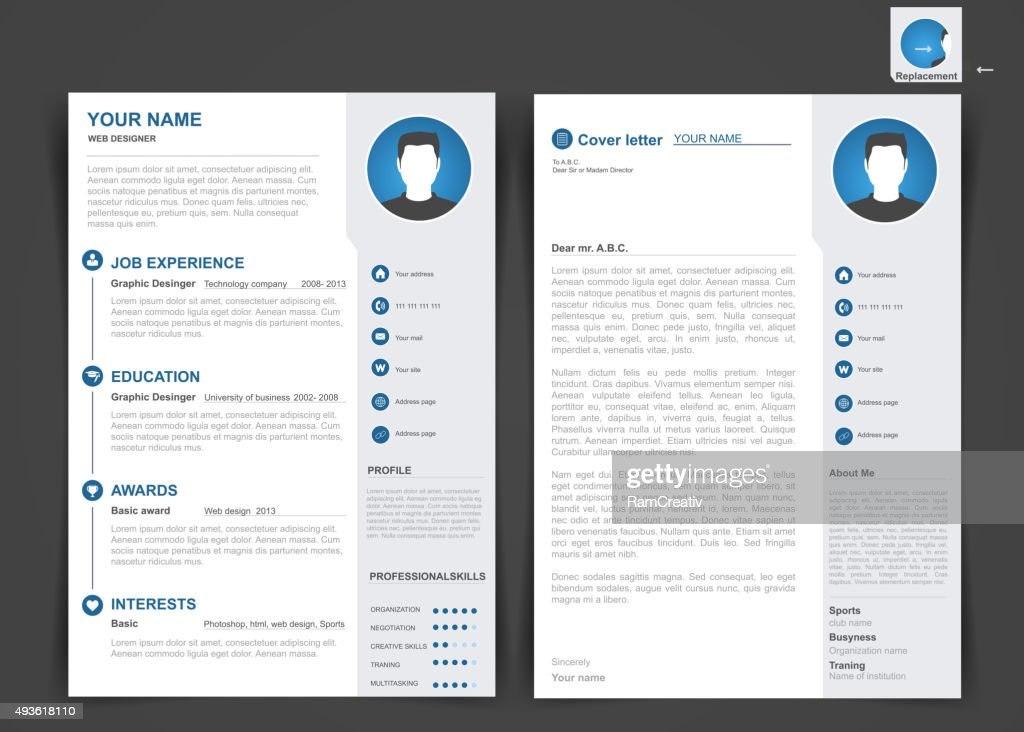 Professional cv, resume template