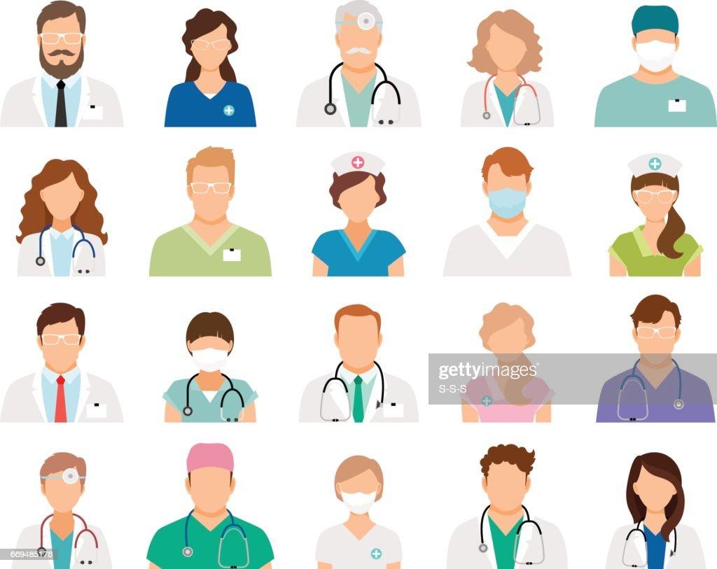 Professional doctor avatars