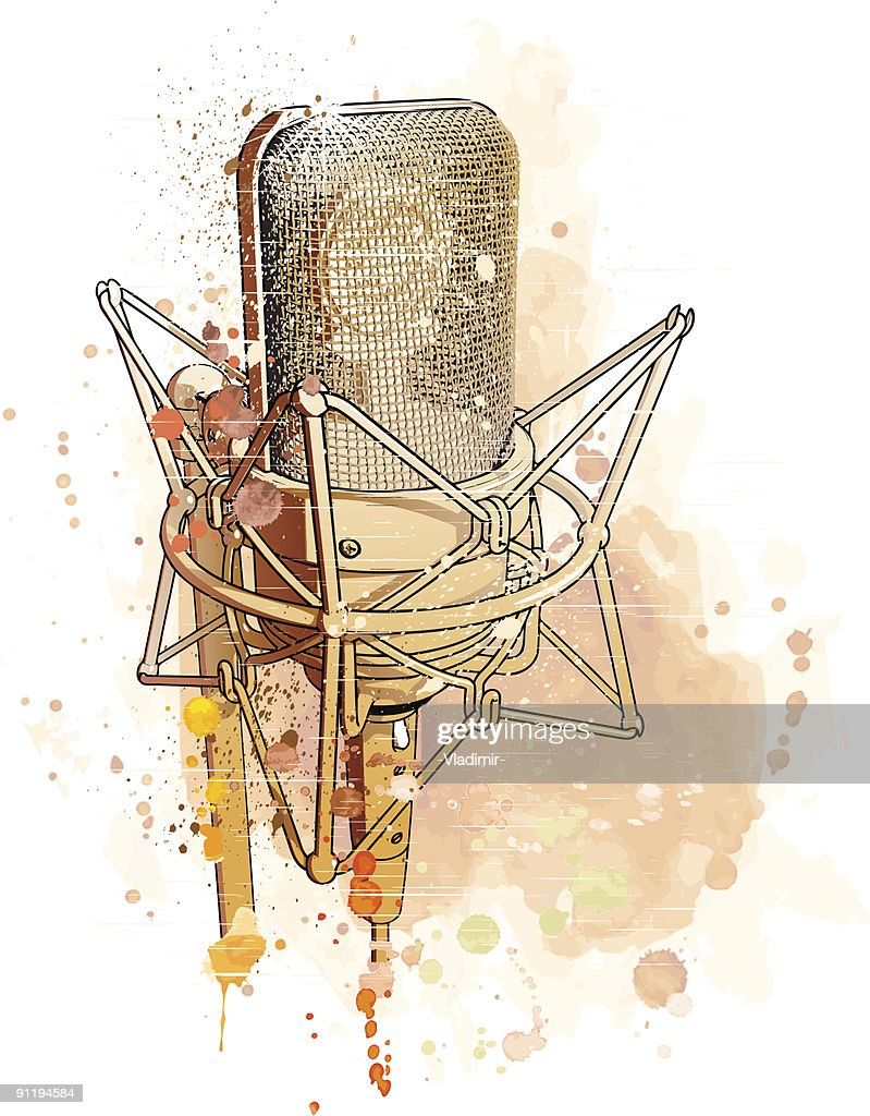 professional gold microphone