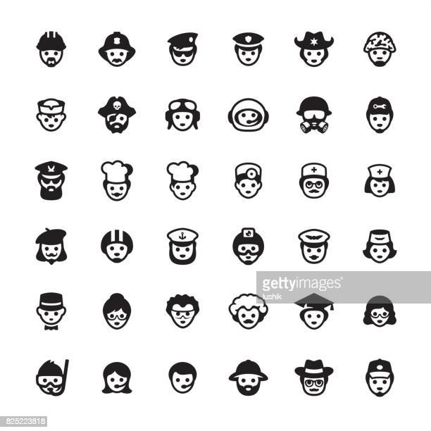 professional occupation - icon set - special forces stock illustrations, clip art, cartoons, & icons
