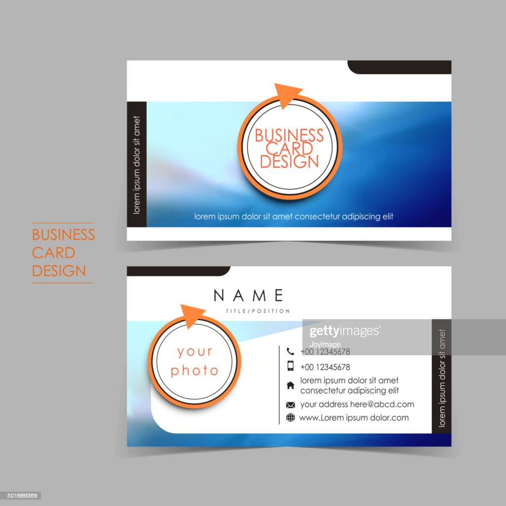 professional ocean style vector business card set