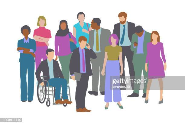 professional or business people - diversity stock illustrations
