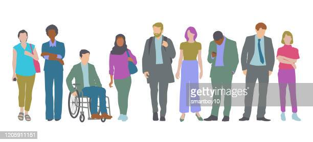 professional or business people - market research stock illustrations