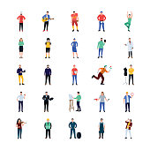 Professional Persons Flat Icons Pack