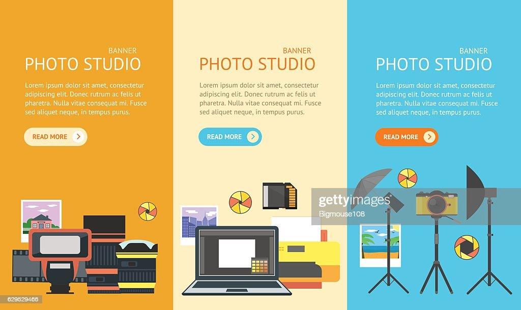 Professional Photo Studio Banner. Vector