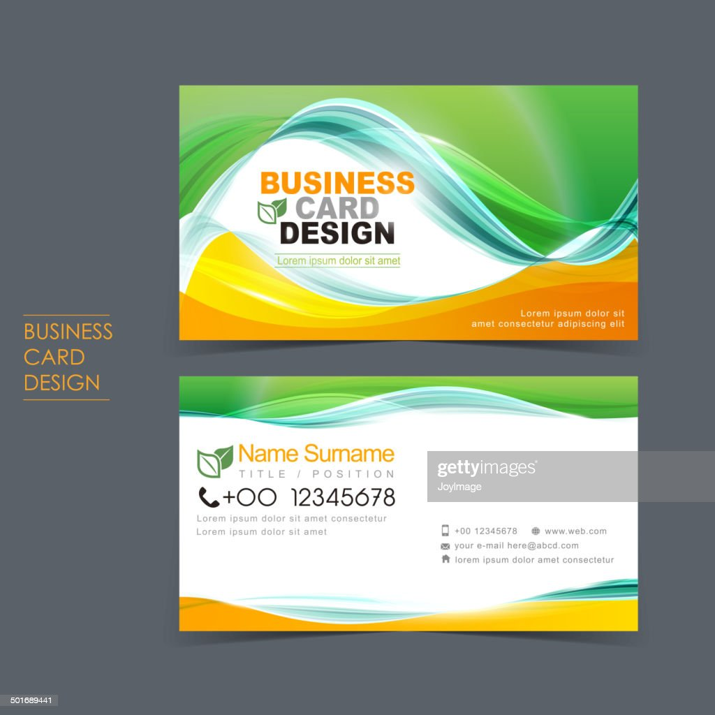 professional vector business card set